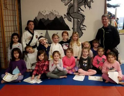 Girl Scouts of Troop 5607 at Dragon Martials Arts on Wilmington Pike