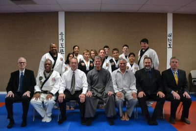 Black Belt Examination participants and honorable Masters